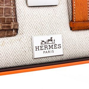 Hermes Accessories - Hermes Stainless Steel Leather Belt Watch Set